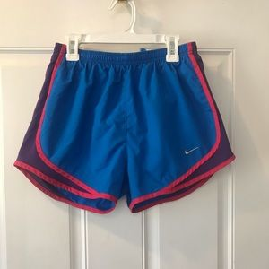 Small Nike solid blue/purple/pink Dry fit shorts